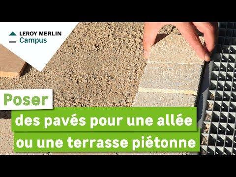 Comment Poser Des Paves Pour Une Allee Ou Une Terrasse Pietonne Youtube