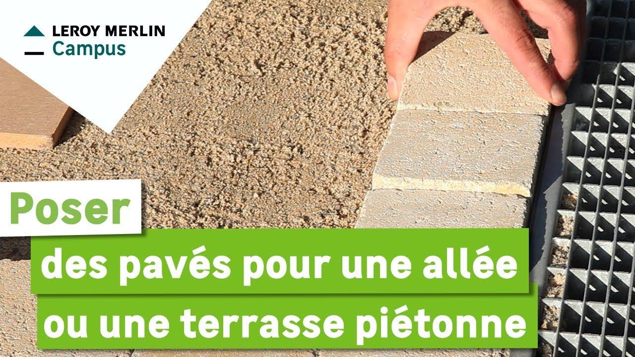 comment poser des paves pour une allee ou une terrasse pietonne
