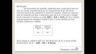 Enem 2014 - Q. 176 - Prova Amarela - Fuso Horário