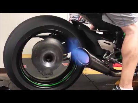 2015 Kawasaki Ninja H2R on the Dyno