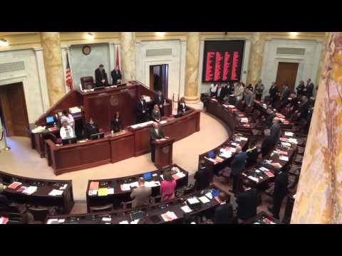 Pastor Robert Powers opening prayer at the Arkansas State House of Representatives