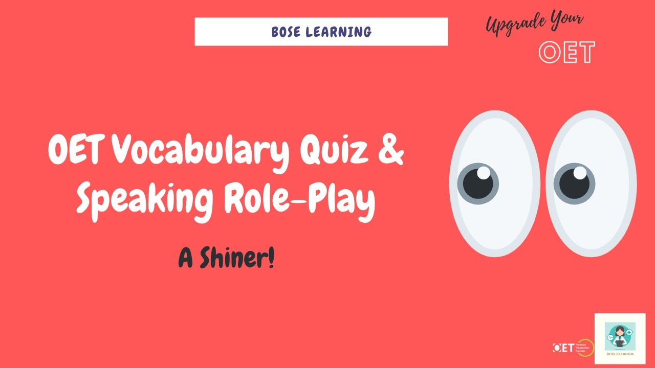 New OET Speaking Role-Play