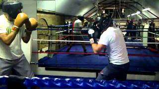Arthur and Hugh Sparring - Boodles Boxing Ball 2011