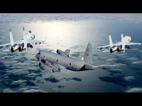 2 Chinese J10 fighter jets Make Unsafe Intercept of US Navy P3 Orion Over South China Sea