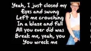 wrecking ball kareoke with lyrics