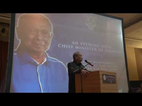An Evening with Chief Minister of Sarawak