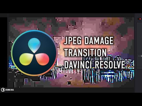 JPEG Damage Transition 3min DaVinci Transition 15 Tutorial by Chung Dha