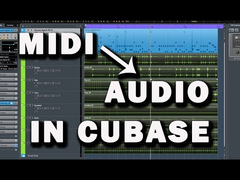 Cubase Tutorial: Turning MIDI into Audio in Groove Agent
