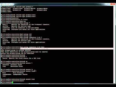 ISDN PRI T1/E1Setup and Configuration - Cisco
