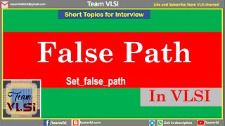 False Path in VLSI | Examples of false path | Write false path constraints | Timing exceptions