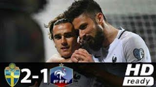 Sweden vs France 2-1   Highlights & Goals   09 June 2017