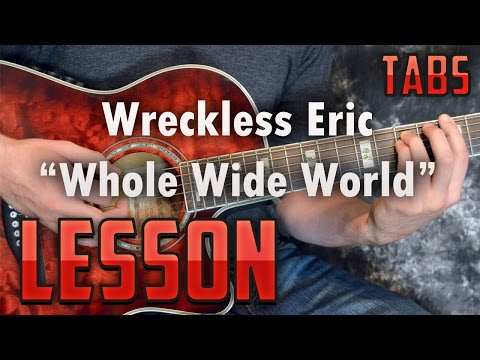 Wreckless Eric-Whole Wide World-Easy Acoustic Songs-Guitar Lesson-Rhythm and Chords