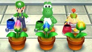 Mario Party Island Tour - 4 Player Minigames - Luigi Bowser Jr Yoshi Peach All Funny Mini Game