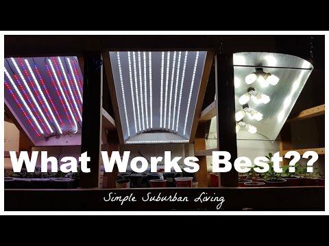 DIY LED Grow Light Follow Up - Low Power LED VS CFL