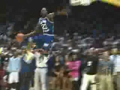 Michael Jordan Leaner dunk in Magic charity game 1990