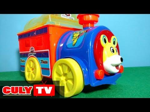 Đồ chơi xe tải ô tô | Xe lửa chở siêu nhân lắp ráp  | train toy for kids carry Superman