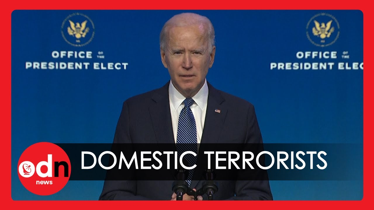 "Biden Slams Capitol Hill Insurgents Calling Violent Group ""Domestic Terrorists"""
