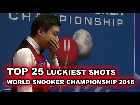 TOP 25 LUCKIEST SHOTS | World Snooker Championship 2016