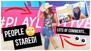 I Dressed Like A COWGIRL AT PLAYLIST LIVE 2019!