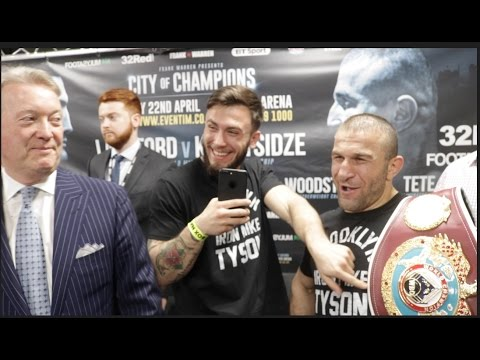 EXPLOSIVE!! BILLY JOE SAUNDERS & AVANDTIL KHURTSIDZE **FULL & UNCUT***PRE FIGHT PRESS CONFERENCE*
