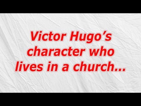 Victor Hugo's character who lives in a church (CodyCross Answer/Cheat)