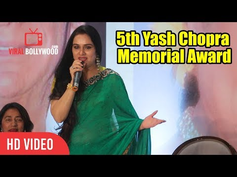 Padmini Kolhapure Speech At 5th Yash Chopra Memorial Award | Asha Bhosle Getting Awarded