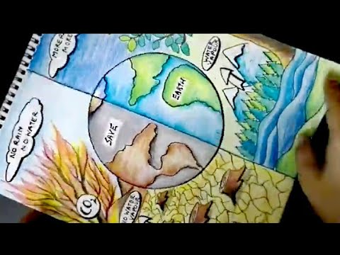 Save Earth Poster Save Environment Poster Save Trees Poster Drawing Youtube