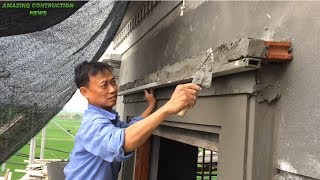Creative Construction And Tips - Rendering Sand And Cement Decorated Above Easy Window