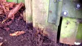 Wood Gate Post Repair/ Replace Part 3