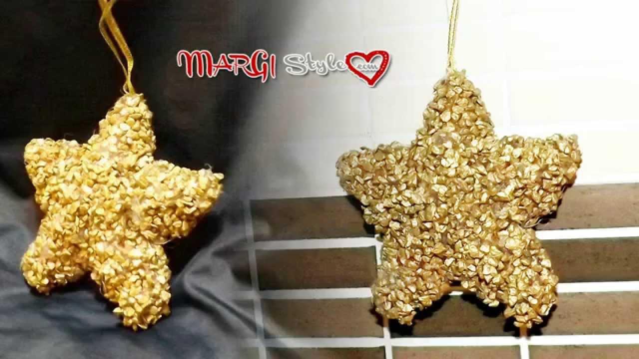 Molto Decorazione stella in polistirolo fai da te - YouTube GJ64