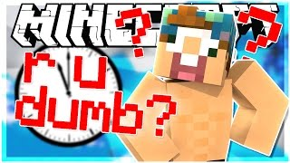 THE IDIOT TEST IN MINECRAFT! | R U DUMB MAP | Minecraft