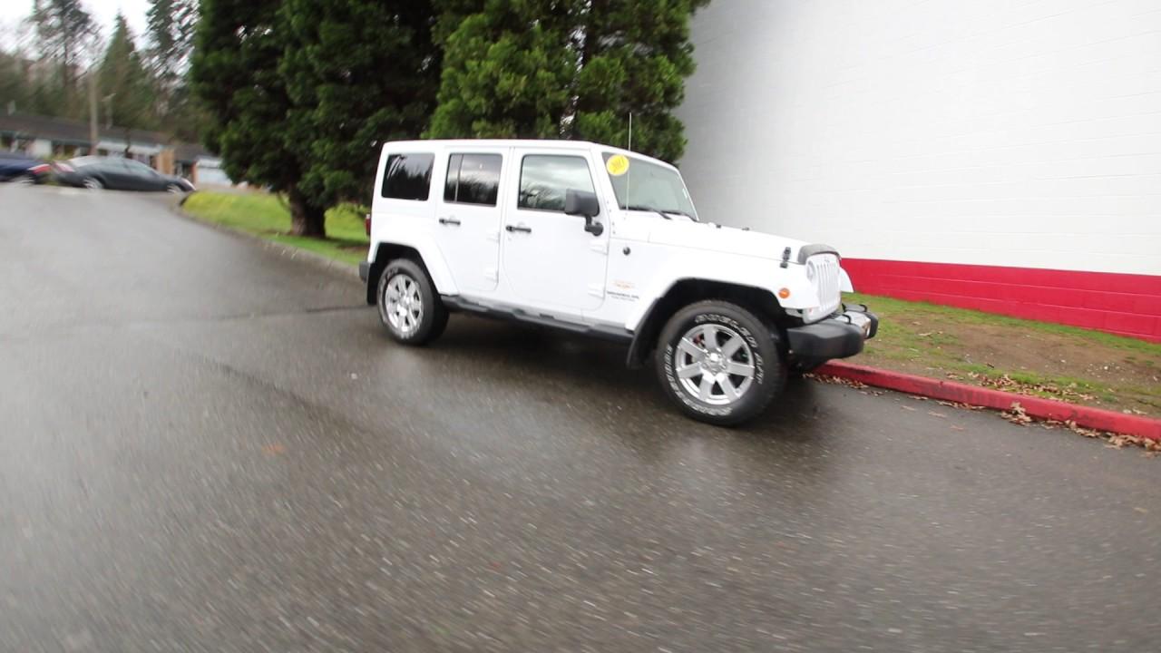 2013 Jeep Wrangler Unlimited Sahara White Dl554958