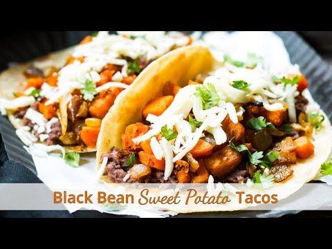 Quick Black Bean Sweet Potato Tacos | Vegetarian