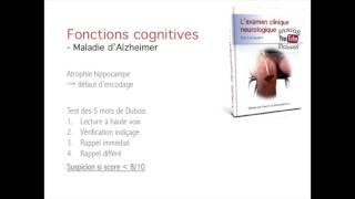 Examen neurologique - dépistage maladie d'Alzheimer dépistage (test 5 mots Dubois)