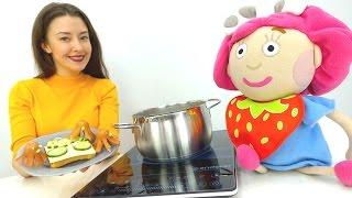 Видео для детей. NEW Капуки Кануки  #ВЕСЕЛАЯШКОЛА ! Катя, Смарта и осьминоги из сосисок!