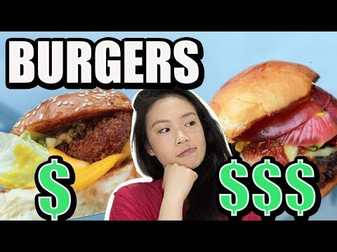 BEST BURGER In SYDNEY 2019 - CHEAP Vs EXPENSIVE BURGER CHALLENGE