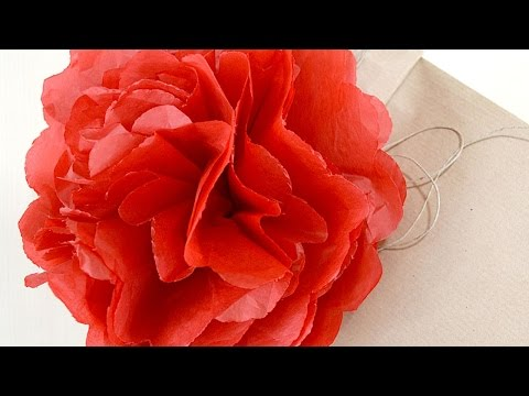 How To Make A Tissue Paper Pom Poms For Gift Bag - DIY Crafts Tutorial - Guidecentral
