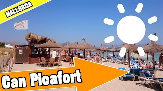 Can Picafort Mallorca Spain: Full beach and resort