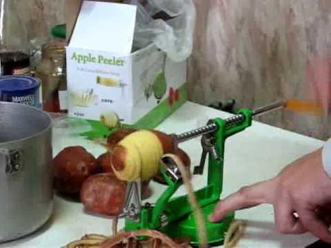 Как почистить картошку яблокорезкой