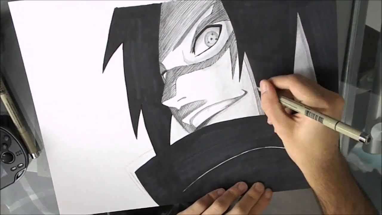 Naruto how to draw madara uchiha comment dessiner madara uchiha youtube - Comment dessiner sasuke ...