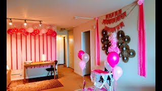 DIY | First Birthday Decoration Ideas | at Home