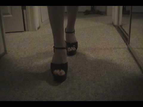 sexy high heels Walking in