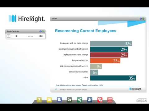 HireRight's 2014 Employment Screening Benchmarking Report Results [Webinar]