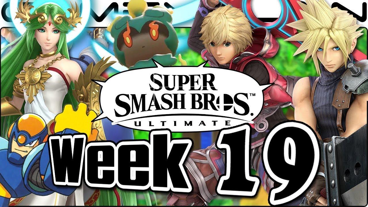Smash Bros  Ultimate Update: Cloud, Shulk, Palutena, Green