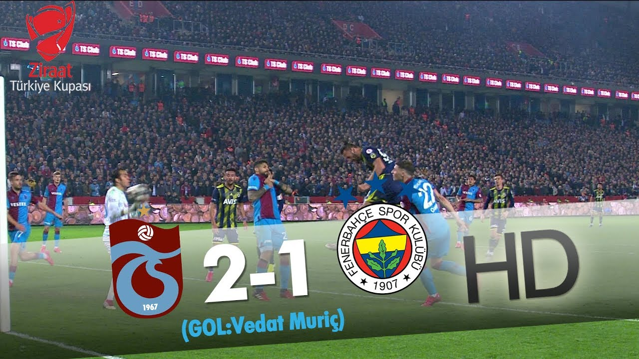 Trabzonspor: 2 - Fenerbahçe: 1 | Gol: Vedat Muriç