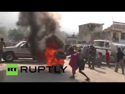 Haiti: UN troops shoot tear gas at anti-Martelly protesters