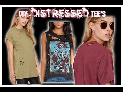 DIY Distressed Tee's-Vintage T-shirt design