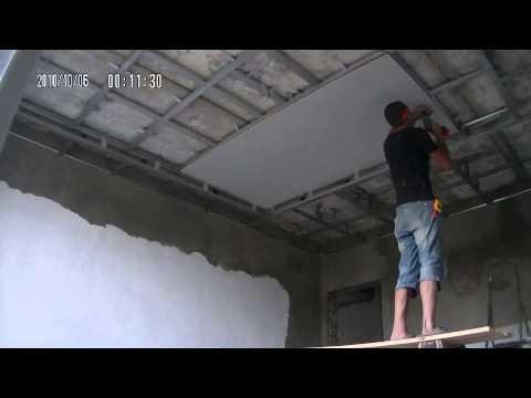 видео: Как сделать потолок гипсокартоном одному.