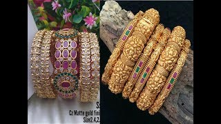 1 Grm Gold New Bangles collections online sale whatsapp number
