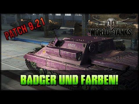 World of Tanks - Patch 9.21: Badger und Farben! [ deutsch 🐄 gameplay ]